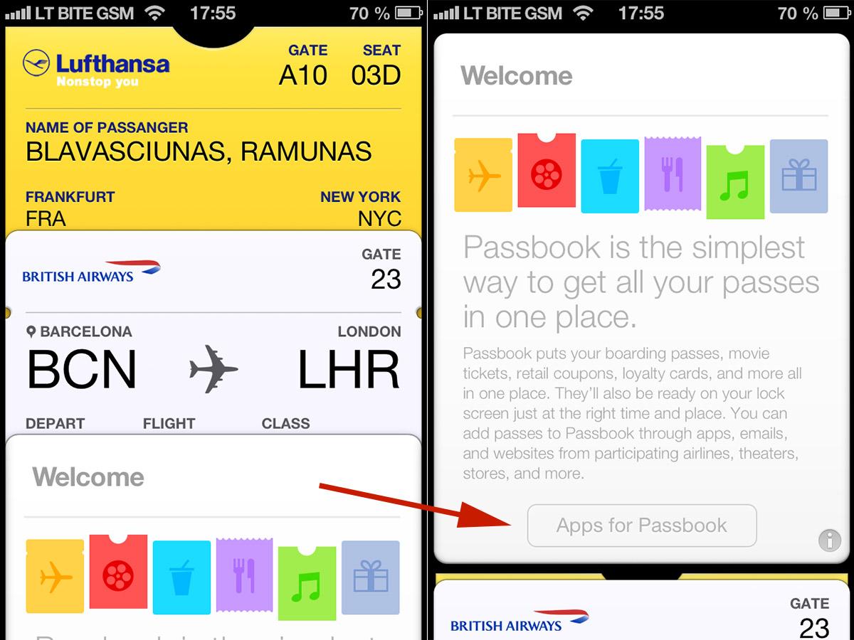 iOS 6.1 Passbook