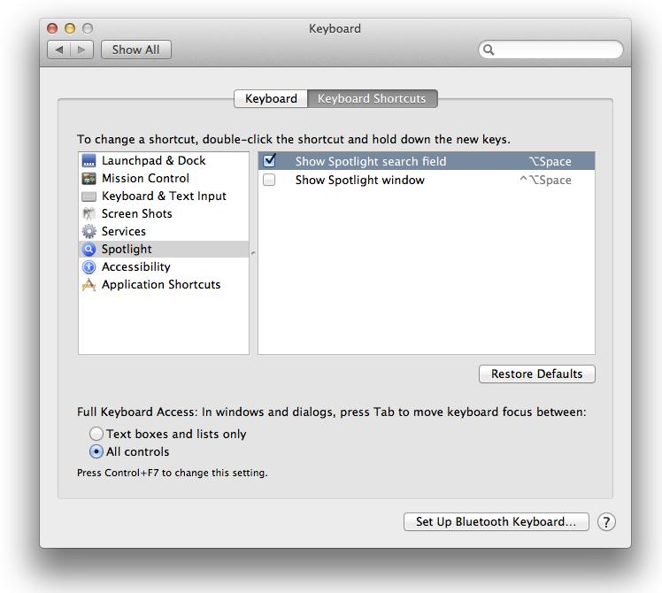 OSX-keiciamKalbas-SpotlightShortcut