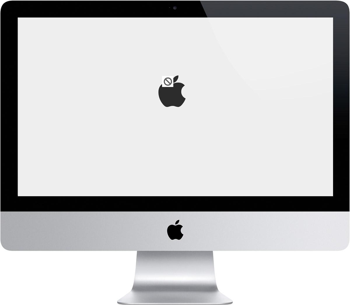 iMac pilkas ekranas