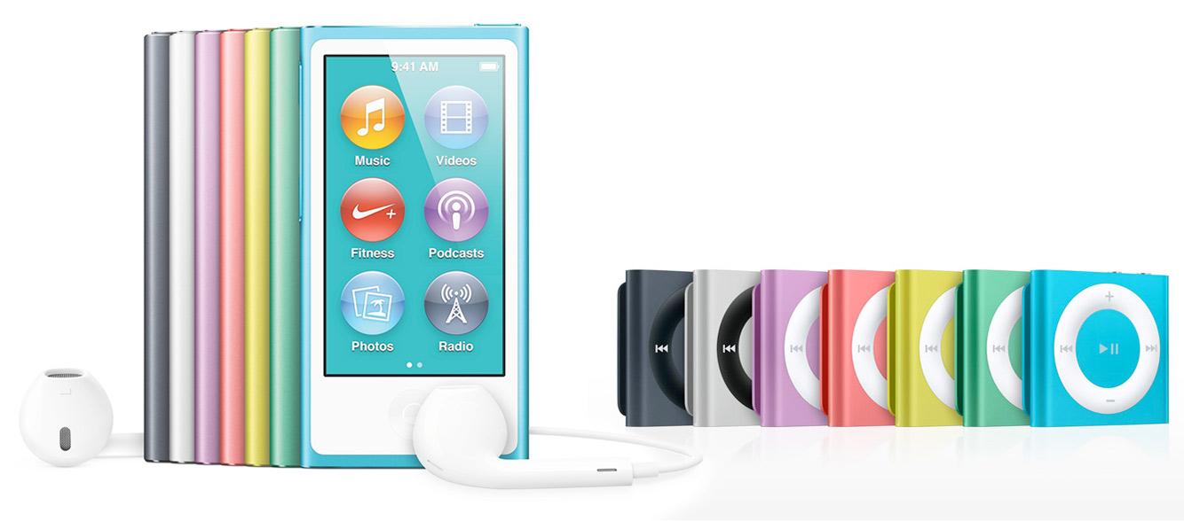 iPod nano ir iPod Shuffle