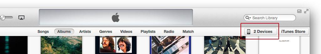 iTunes iOS prietaisu sarasas
