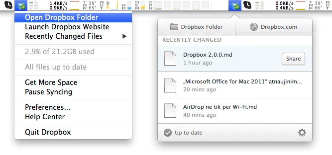 Dropbox 1.6.18 vs 2.0.0