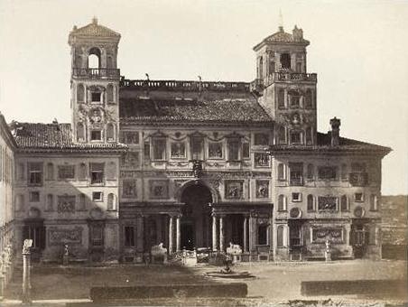 MacPherson-Garden-front_of_the_Villa_Medici (1858)