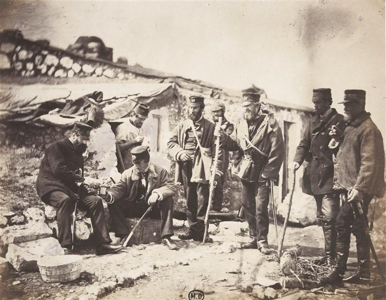 Roger Fenton-leitenantas Pulkininkas Shadforth ir 57dalinio karininkai-Krymas1855