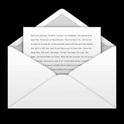 Išsaigoto laiško ikona