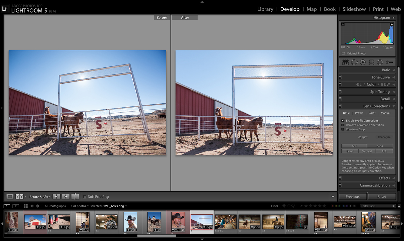 Adobe Photoshop Lightroom 5 beta Upright