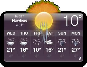 Oro prognozė OS X - Nowhere