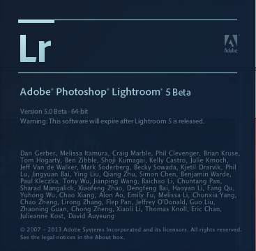 Adobe Photoshop Lightroom 5 (public beta)
