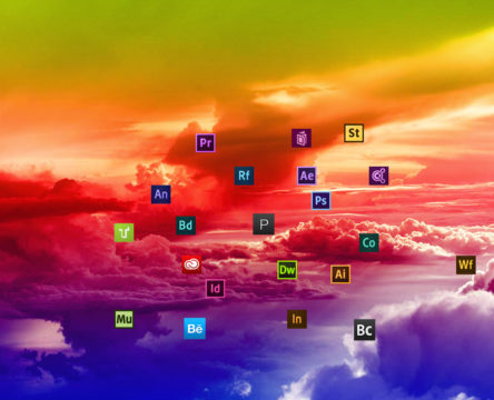 Debesų išsklaidymas virš Photoshop debesyse