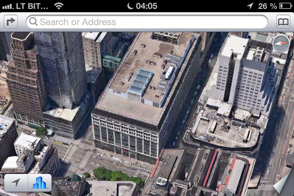 Apple 3D žemėlapiai - 6a aveniu Niujorke