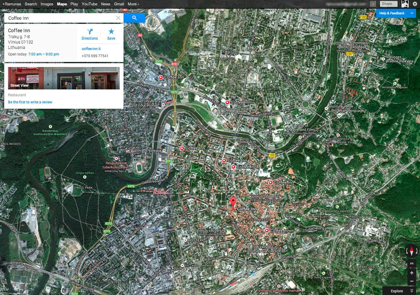 Google Maps CoffeeInn