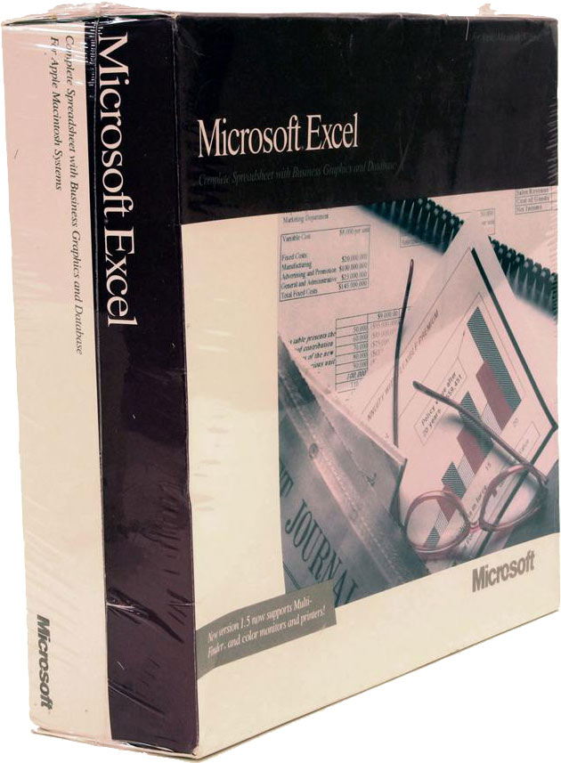 MS Excel for Mac 1985