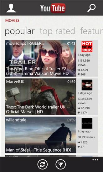YouTube Windows Mobile