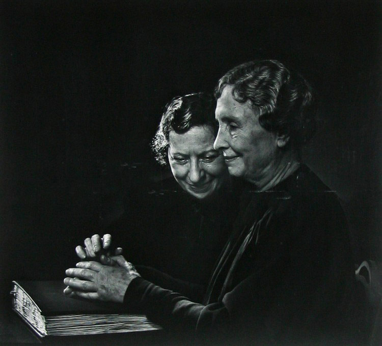 Helen Keller ir Polly Thompson, 1948