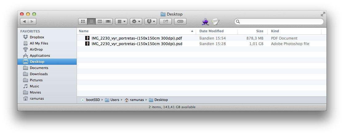 Kaip PDF išsaugotas PSD failas užims šiek tiek daugiau vietos diske, bet nereikės jaustis įkalintam Adobe gniaužtuose.